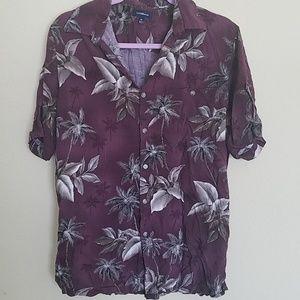 Maroon Hawaiian shirt